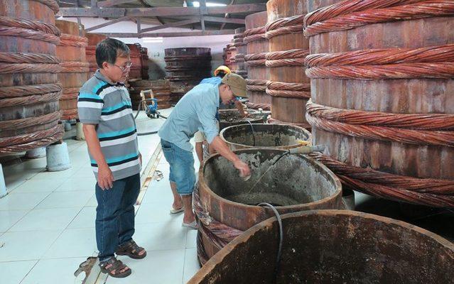 Thùng gỗ muối nước mắm sạch